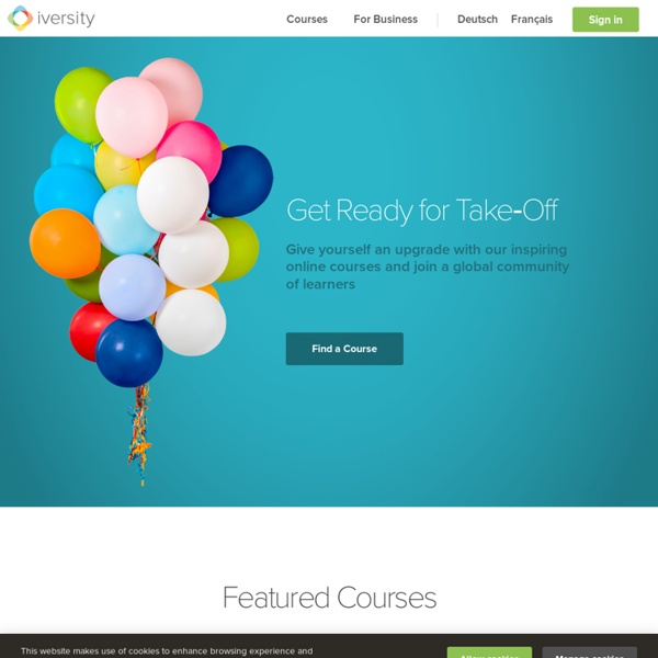 Iversity — Online Courses. Study anywhere.