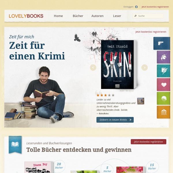 Bücher, Literatur, Rezensionen bei LOVELYBOOKS - Romane, Krimi, Bestseller und mehr