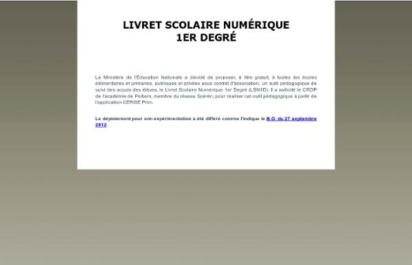 LSN - Livret Scolaire Numérique