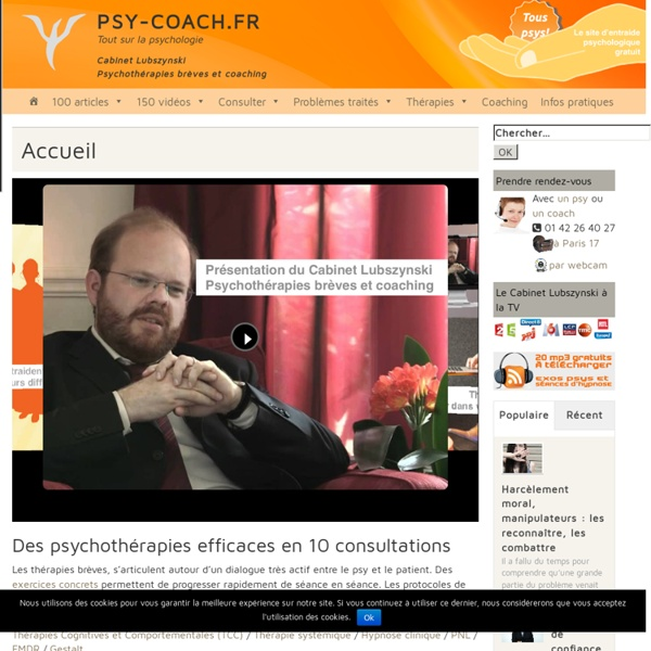 Cabinet Lubszynski - Psychothérapies brèves et Coaching