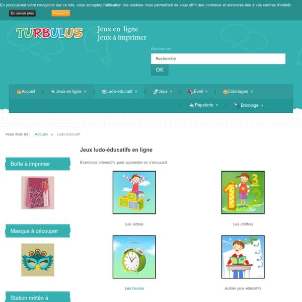 Ludo-éducatif - Turbulus, jeux gratuits pour enfants