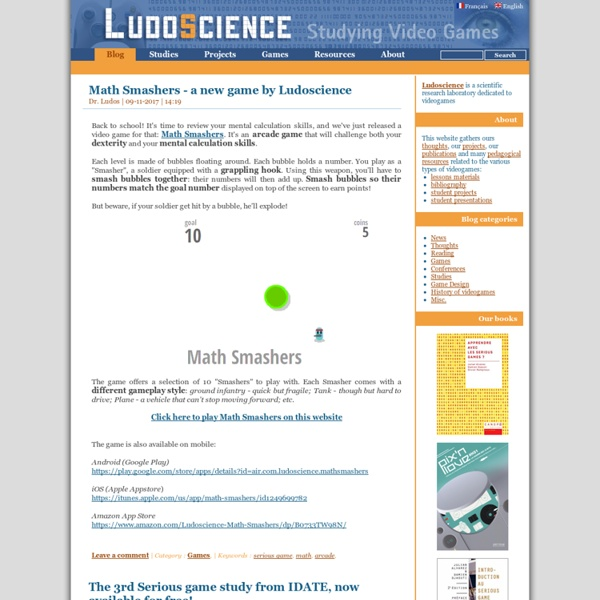 LudoScience - Scientific research laboratory dedicated to videogames and Serious Games
