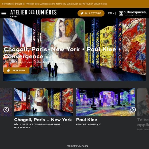 Une oeuvre commentée chaque jour sur le site de L'Atelier des Lumières