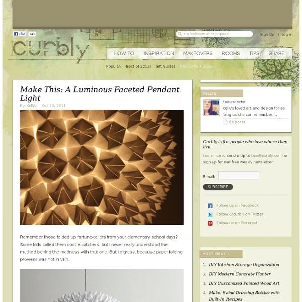 DIY Design Community « Keywords: DIY, pendant, lighting, paper