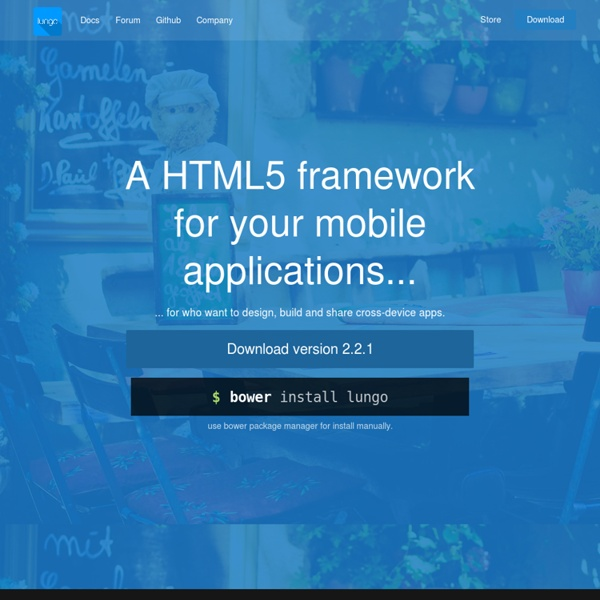 Lungo - HTML5 Cross-Device Framework