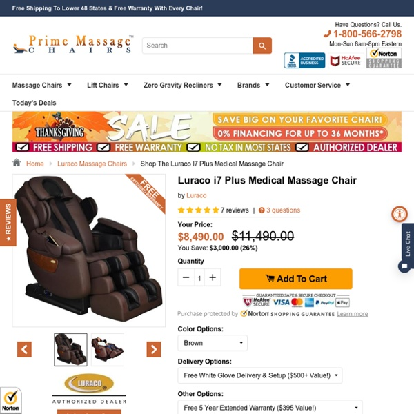 Shop the Luraco i7 Plus Medical Massage Chair – Prime Massage Chairs
