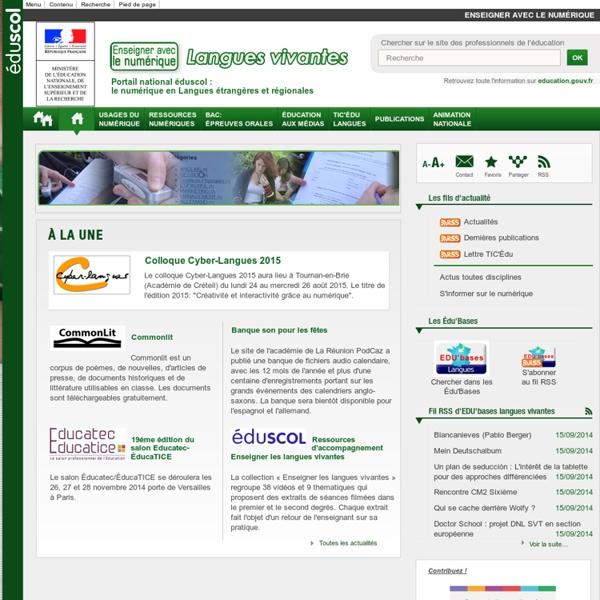 Eduscol - Numérique et Langues vivantes