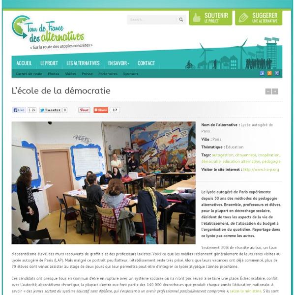 Lycée autogéré de Paris : l'école de la démocratie