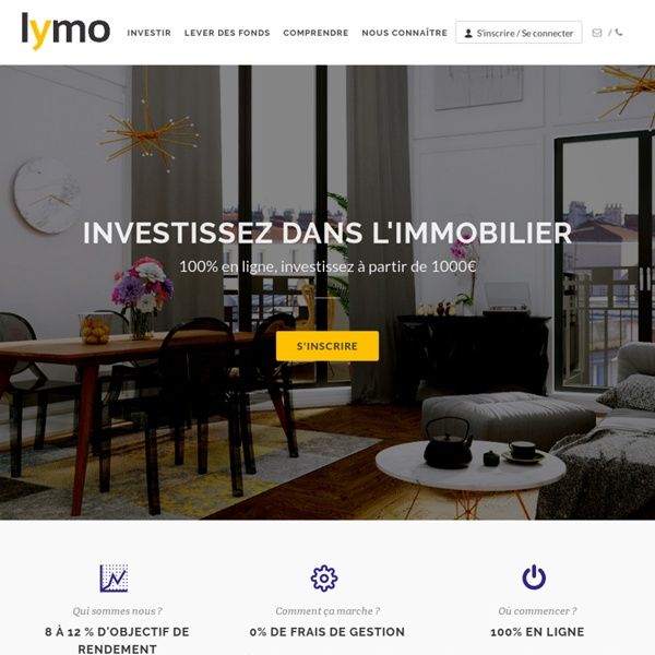 Lymo, le crowdfunding immobilier