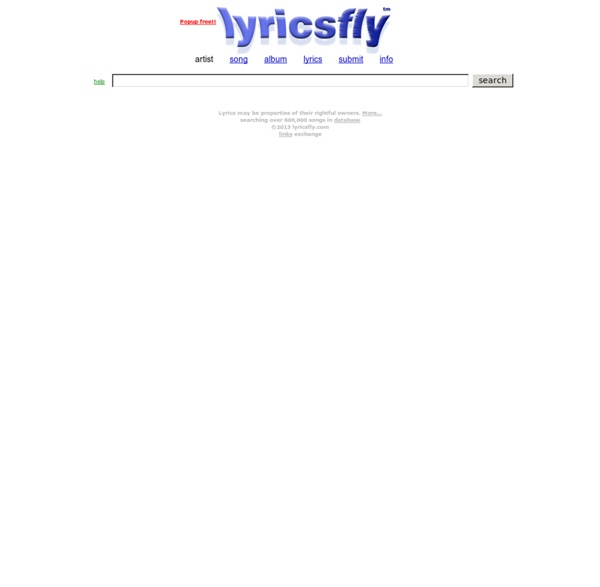 Lyricsfly.com - Song lyrics search database