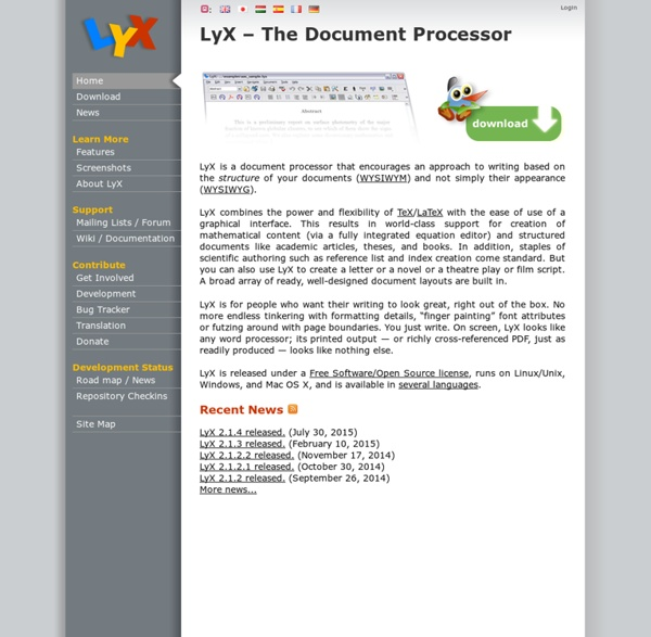 LyX – The Document Processor