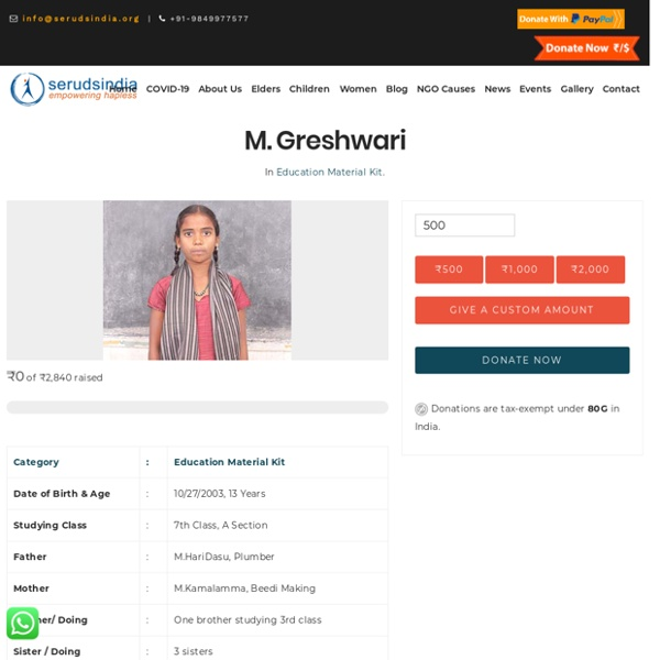 M. Greshwari - Seruds