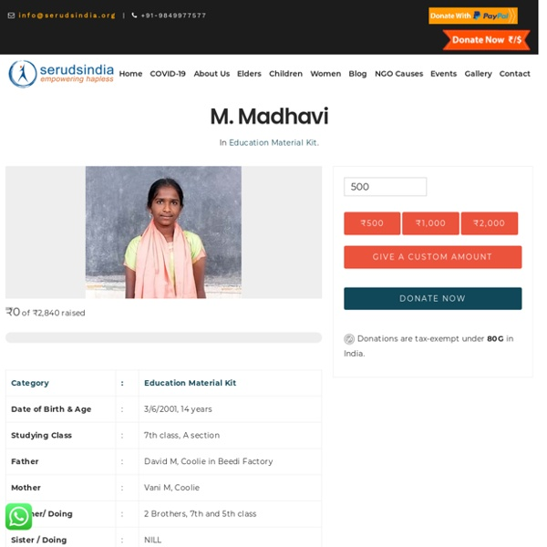 M. Madhavi - Seruds