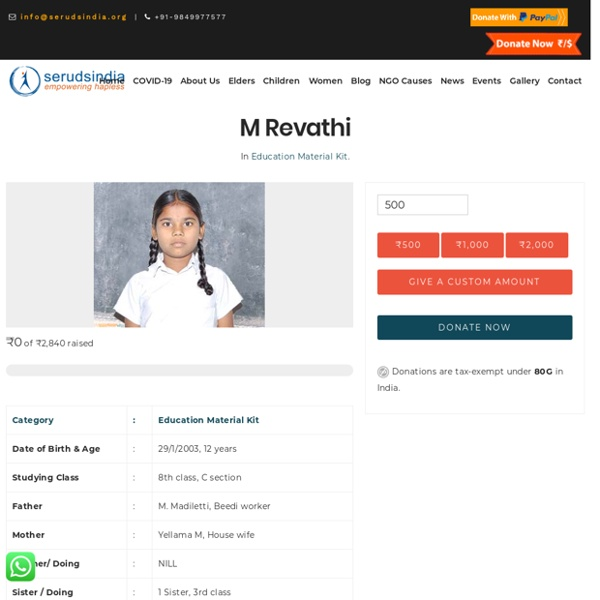 M Revathi - Seruds