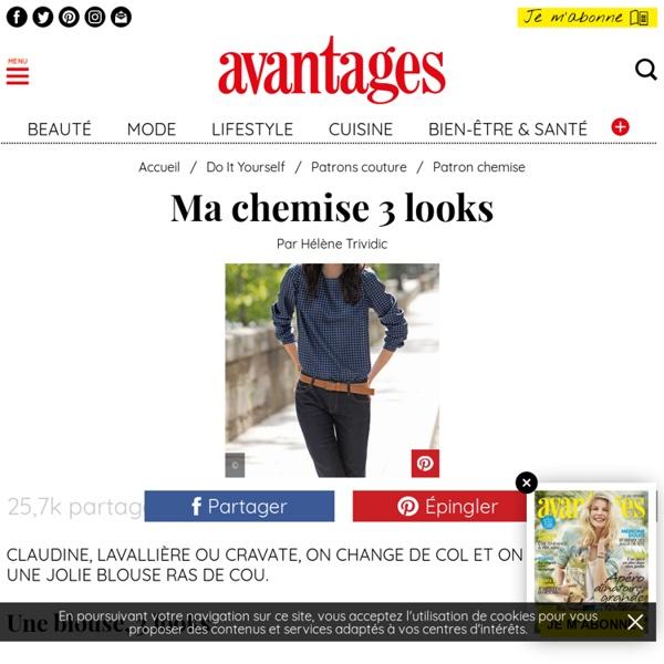 Fiche couture: Une blouse, 3 looks