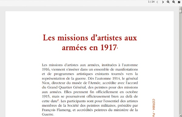 Missions d'artistes aux armées