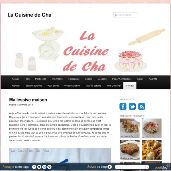 Ma lessive maison - La Cuisine de Cha