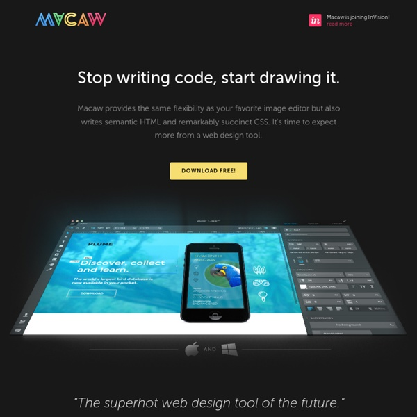 Macaw: The Code-Savvy Web Design Tool