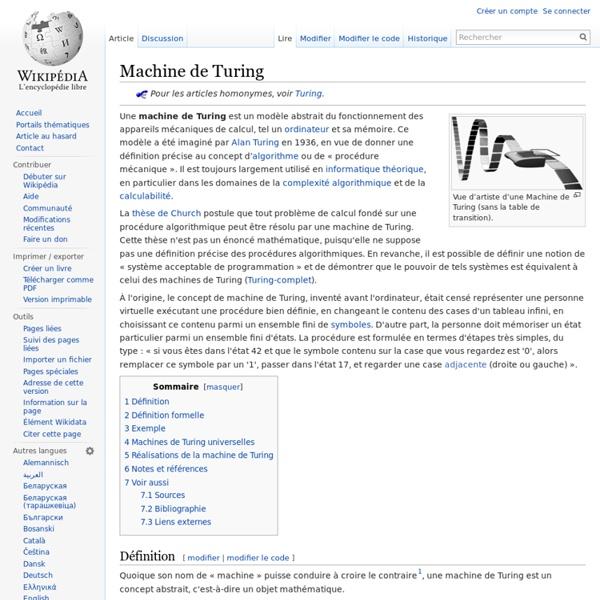 Machine de Turing