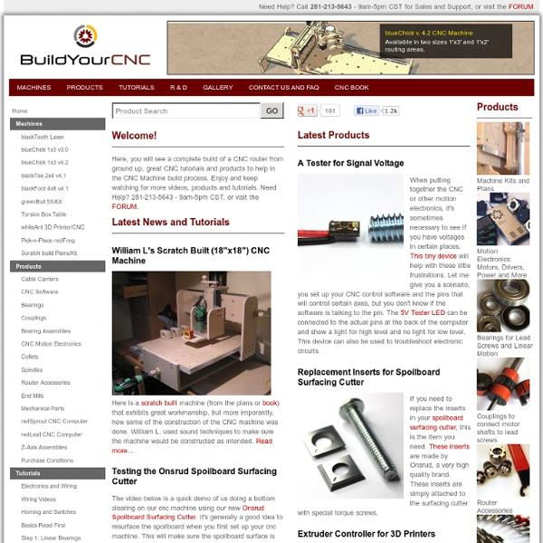 Build Your Own CNC Router, CNC Machine, or 3D Printer