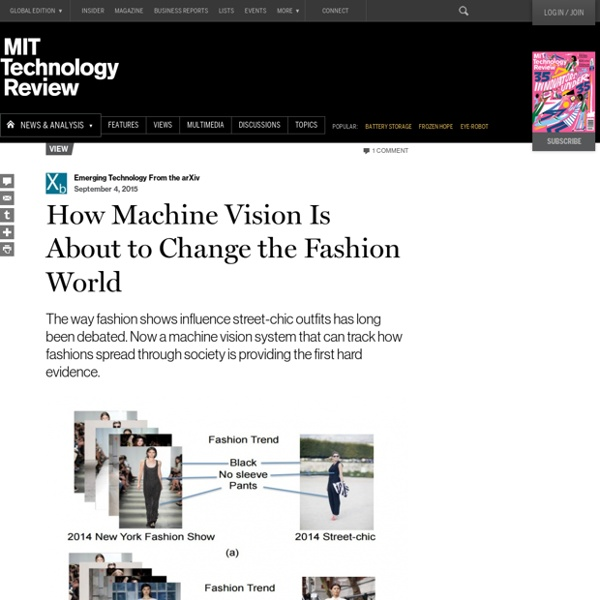 How Machine Vision Is About to Change the Fashion World