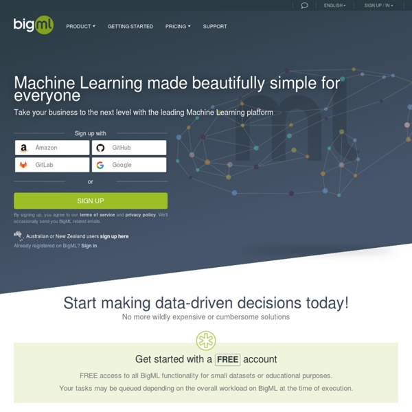 BigML.com is Machine Learning for everyone