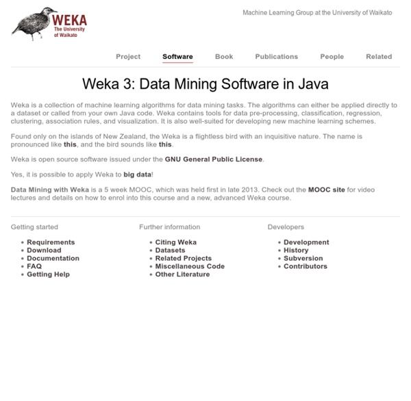 Weka 3 - Data Mining with Open Source Machine Learning Software in Java