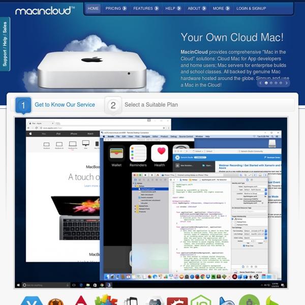 MacinCloud - Rent a Mac in the Cloud! - Mac in Cloud
