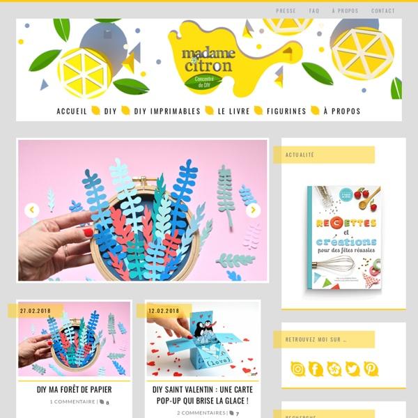 Madame Citron - Blog de créations et DIY