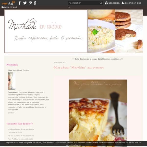 "Mon gâteau ""Madeleine"" aux pommes"