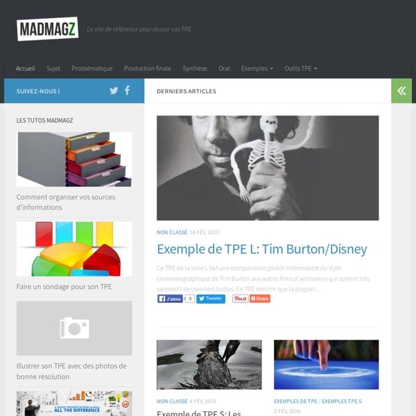 TPE - Le site de référence pour réussir vos TPE