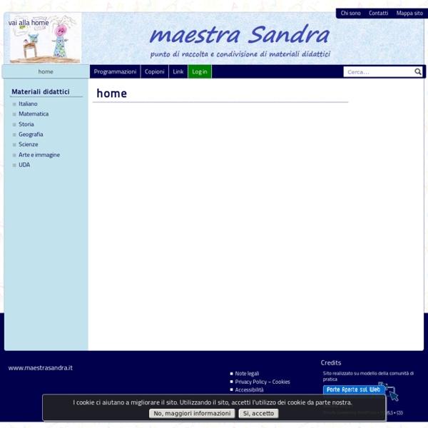 Maestra Sandra - Unità didattiche e progetti educativi