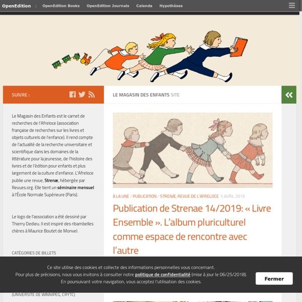 Le Magasin des enfants : Carnet de recherches de l'Afreloce