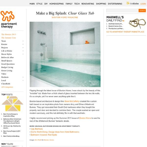 Make a Big Splash: Clear Glass Tub Boston Home Magazine