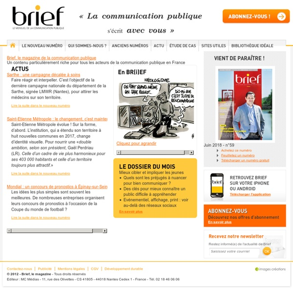Brief, le magazine de la communication publique