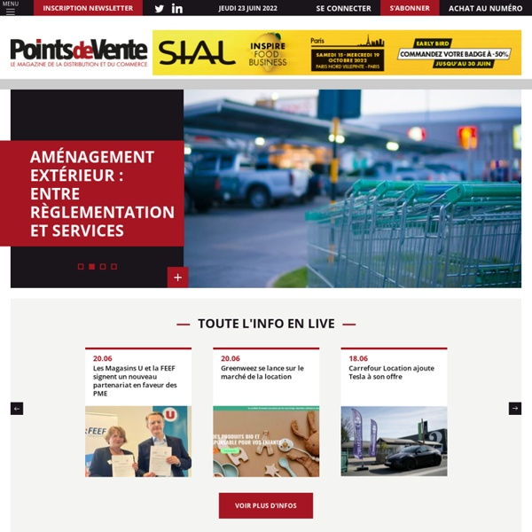 Points de Vente.fr - Le magazine de la distribution et du commerce