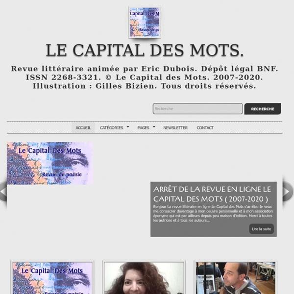 LE CAPITAL DES MOTS. Revue de poésie. Poetry Magazine.