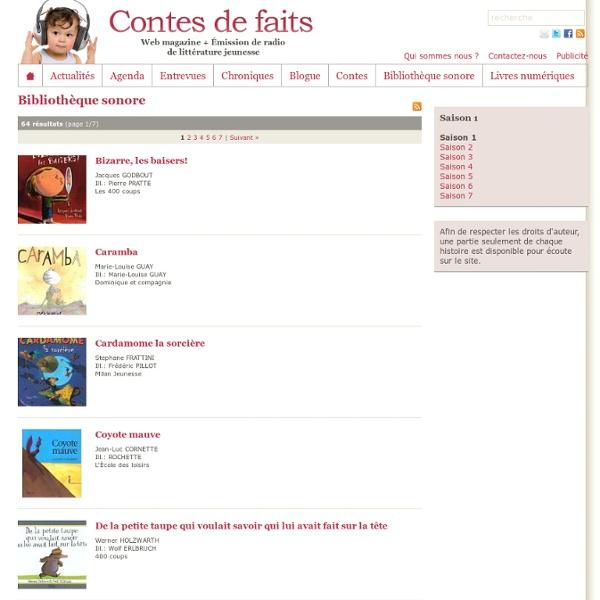 Contes de faits : Web magazine + émission de radio de littérature jeunesse diffusé à CKRL 89,1. Des histoires pour enfants pour endormir, rêver, s'éveiller !