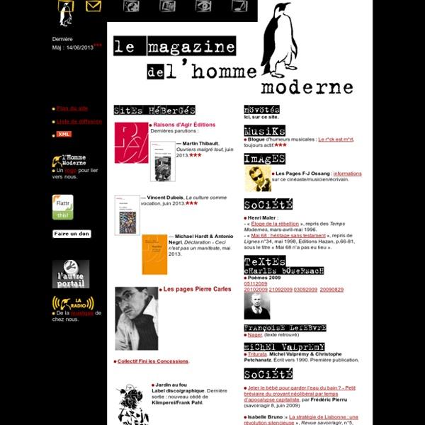 Le Magazine de l'Homme Moderne, bienvenue !