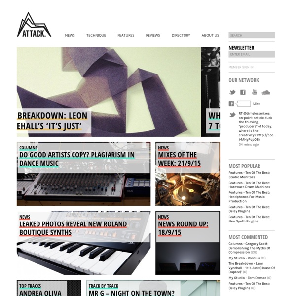 Attack Magazine - Dance music production and culture