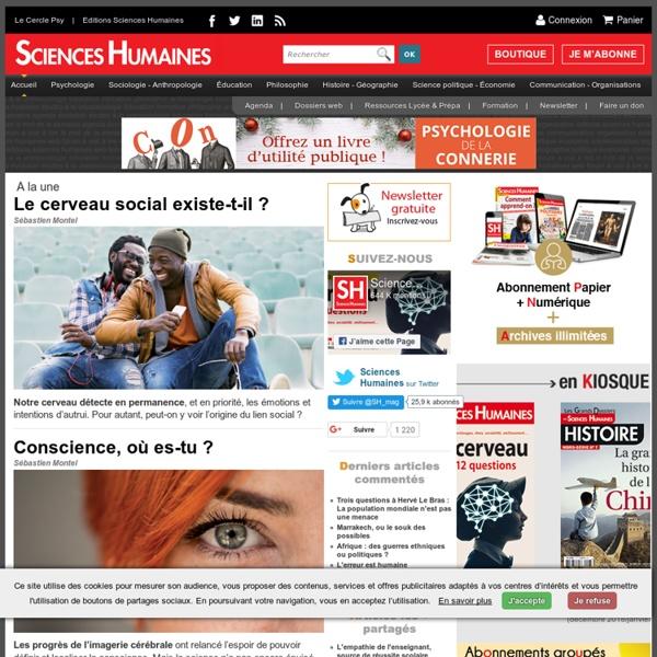 Magazine sciences humaines revue sciences humaines for Revue sciences humaines