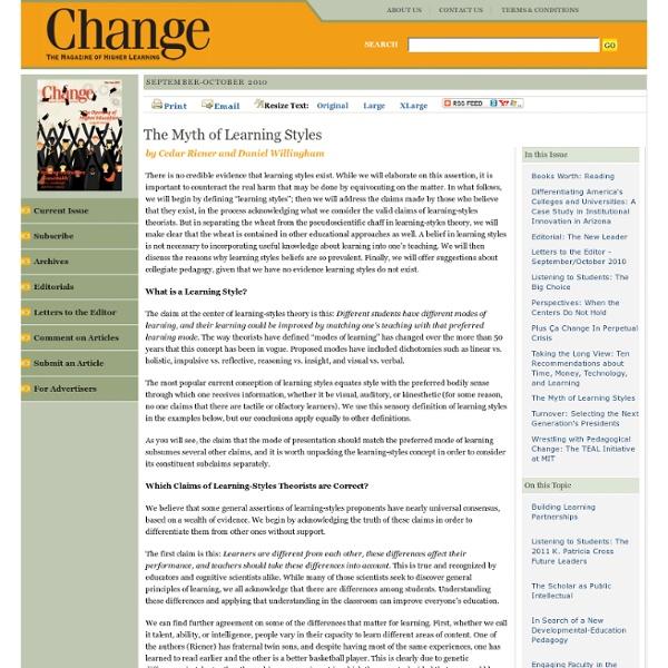 Change Magazine - September-October 2010