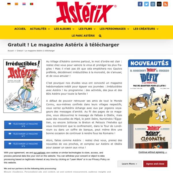 Le magazine Astérix est gratuit!