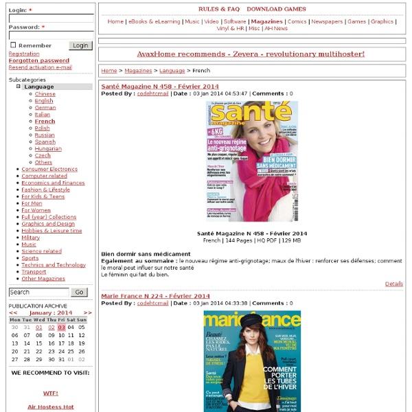 Magazines -> Language -> French