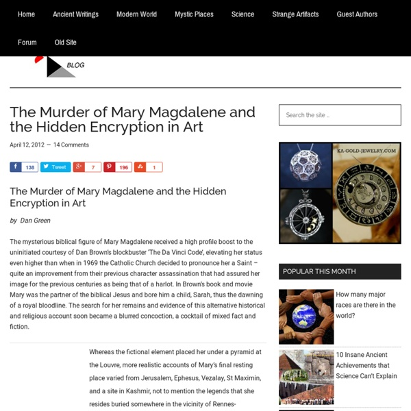 The Murder of Mary Magdalene and the Hidden Encryption in Art