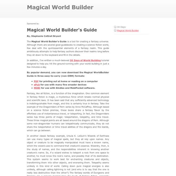 Magical World Builder