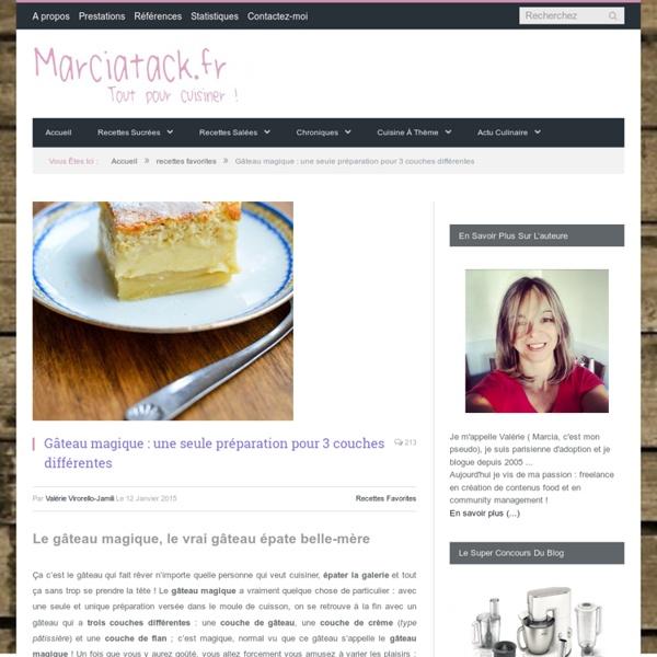 Gâteau magique : la recette facile et inratable - Marciatack