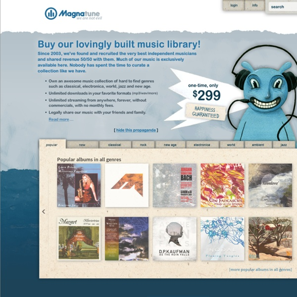 Magnatune: music downloads and licensing