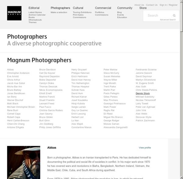 Magnum Photos Photographers
