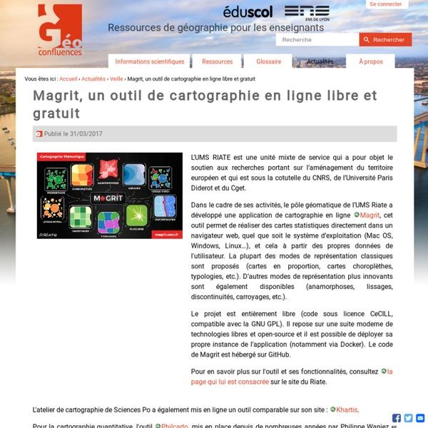 Magrit, un outil de cartographie en ligne libre et gratuit